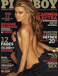 Capa da Playboy Americana com Carmen Electra