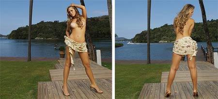Fotos de Kelly Fernandes, a Mulher Pêssego como Gata do Mês da Playboy