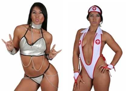 Fotos de Priscila do BBB 9 vestindo Fantasias Eróticas