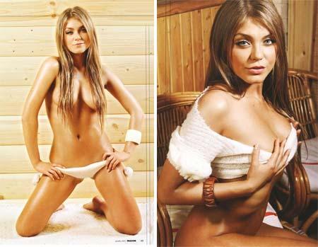 Fotos Sensuais de Oksana Pochepa na Revista Maxim Russa