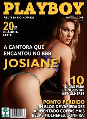 Capa Ilustrativa de Josiane do BBB na Revista Playboy