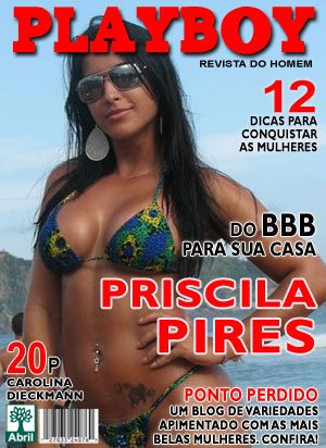 Capa Ilustrativa da Priscila Pires do BBB na Revista Playboy