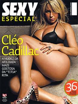 Cléo Cadillac na capa da revista Sexy Especial