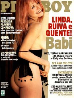 Babi Xavier é capa da Playboy de Janeiro de 2008