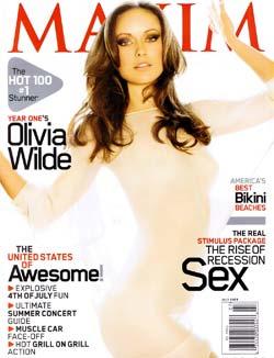 Olivia Wilde na capa da revista Maxim