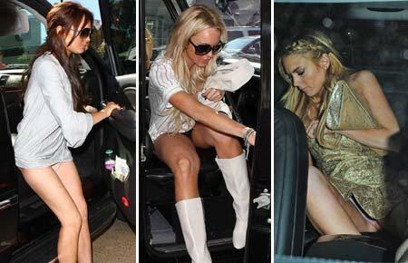 Fotos de Flagras que mostram a calsinha de Lindsay lohan