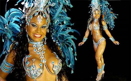Fotos da Musa da Beija-Flor no Carnaval 2010