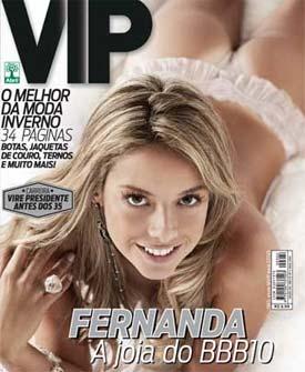 Capa da Revista VIP com Fernanda do BBB