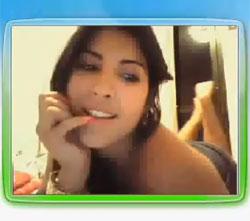 Webcam mostra Priscila Pires em cenas de intimidadel