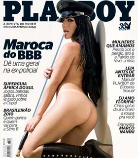 Capa da Revista Playboy com Anamara do BBB 10