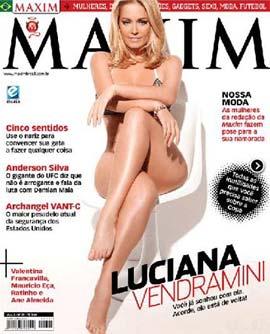 A Ex-Paquita Luciana Vendramini na Capa da Maxim