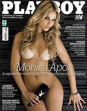 Mônica Apor na Capa da Playboy de Julho