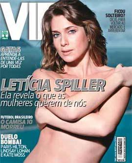 Letícia Spiller na Capa da Revista VIP