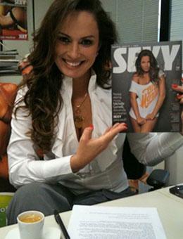 Nubia Oliiver assina com a revista Sexy