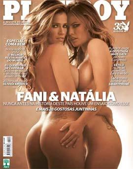 Fani e Nathália Juntas na Playboy