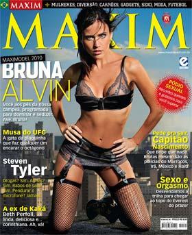 Bruna Alvim na Capa da Revista Maxim