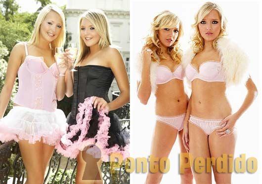 Fotos das Gêmeas Samantha e Amanda Marchant