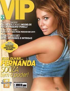 Fernanda Souza na Capa da Revista VIP