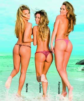 Loiras de Biquini na Capa da Revista Maxim