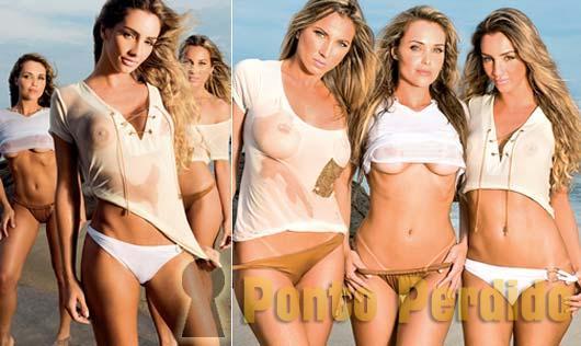 Fotos de Loiras de Biquini na Revista Maxim