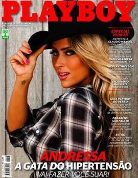 Andressa do Hipertensão na capa da Playboy