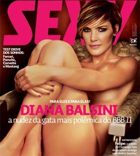 Diana do BBB é Capa da Revista Sexy