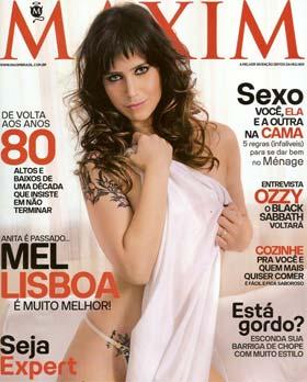 Mel Lisboa na capa da Maxim de maio