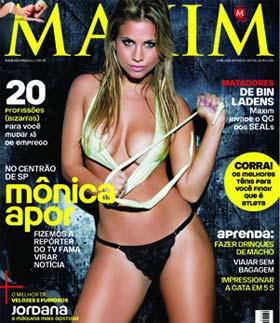 A Reporter Mônica Apor na Revista Maxim
