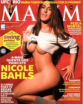 Nicole Bahls na Capa da Revista Maxim