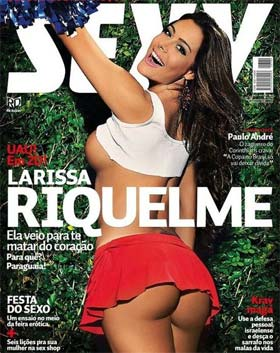 Larissa Riquelme Nua na Revista Sexy de Maio
