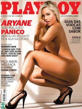 Ex-Panicat Aryane Steinkopf na Revista Playboy
