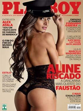 Aline Riscado do Balé do Faustão na Playboy de Junho