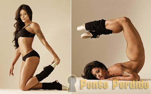 Fotos de Aline Riscado do Balé do Faustão na Playboy de Junho