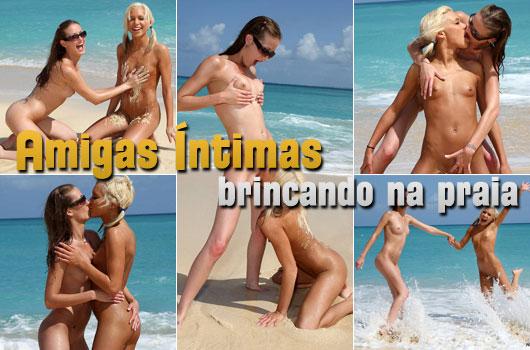 Meninas Nuas Praia