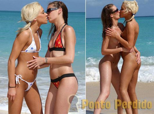 Fotos de Amigas Íntimas Brincando na Praia
