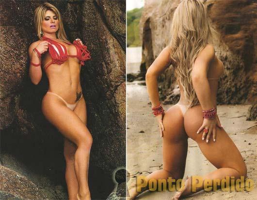 Fotos de Carine Felizardo, a Miss Bumbum 2012, na Revista Sexy