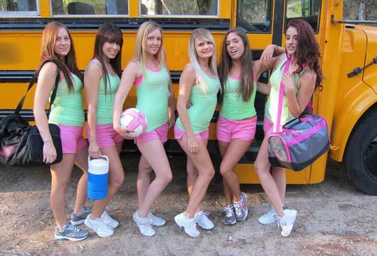 Fotos de Amigas Íntimas Brincando no ônibus