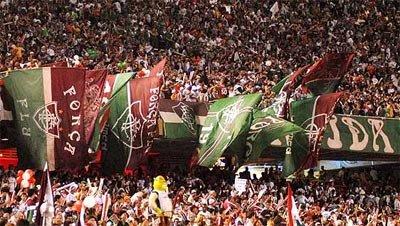 Torcida do Fluminense faz a sua parte